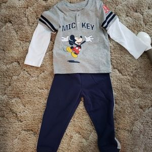 Mickey Mouse 2 Piece Outfit